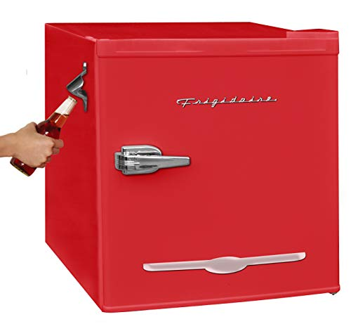 Frigidaire EFR176-RED 1.6 cu ft Red Retro Fridge with Side Bottle Opener. for The Office, Dorm Room or Cabin