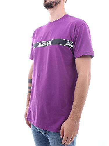 shirt uomo Purple Napapijri T N0yhud002 da H8qndgYH