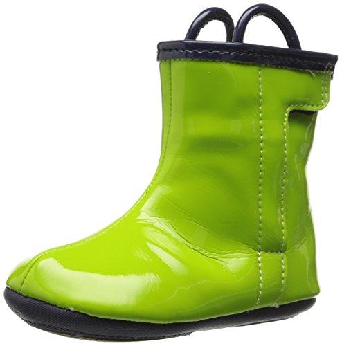 Robeez City Slicker Rain Boot (Infant), Macaw Green, 3-6 Months M US Infant