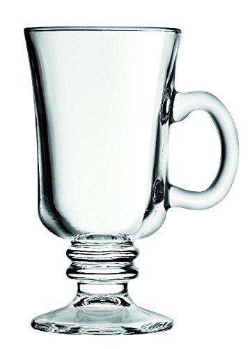 12 x Irish Coffee Glas, Kaffeeglas mit Henkel, Glas, 24 cl, Ø 7.6 cm, Höhe: 14.6 cm