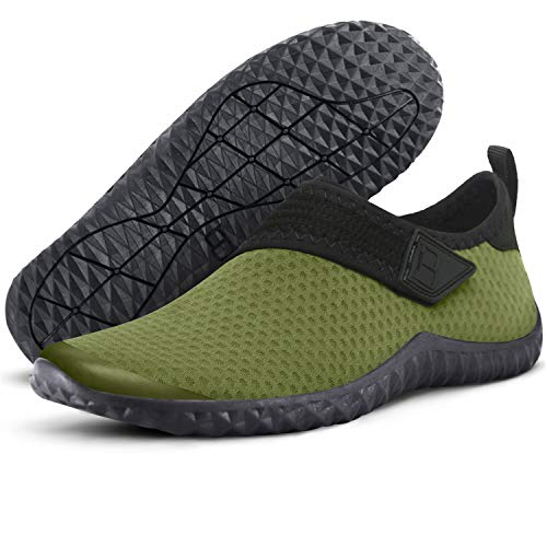 Centipede Demon Water Shoes Quick Dry Barefoot for Swim Diving Surf Sports Beach for Men 7 M Army Green