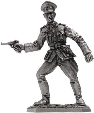 German Officer WWII Tin Toy Soldiers Metal Sculpture Miniature Figure Collection 54mm (Scale 1/32) (VNT-04)