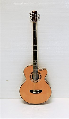 5 String Cutaway Acoustic Electric Bass, Spruce Top by KAPOK