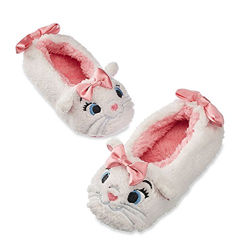 Cat Burglar Costume Accessories (Disney Store Marie - The Aristocats Plush Slippers for Girls, Size 11/12)