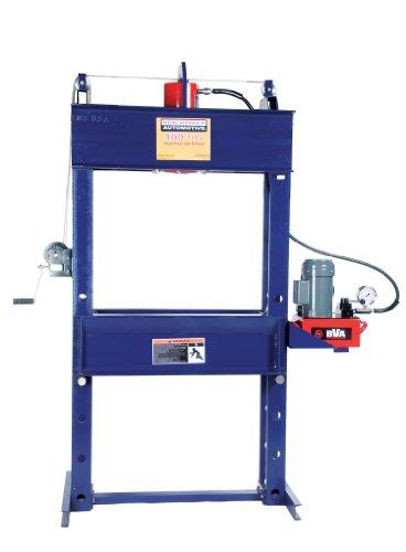 Hein-Werner HW93610 Blue Shop Press with Electric Pump - 100 Ton Capacity (Press 100 Shop Ton)