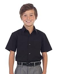 Gioberti Boy's Short Sleeve Solid Dress Shirt