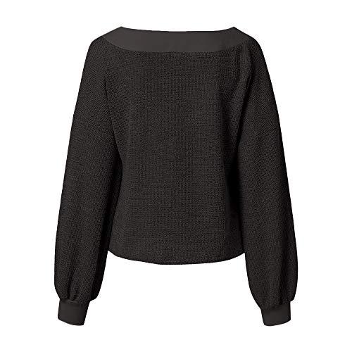 Manches Neck Long Automne V Pull Gris Lanter Pull tricots Hauts Casual Blouse Femmes GreatestPAK wxX05zqM1