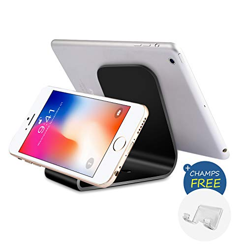 YW YUWISS Micro Suction Cell Phone Stand Tablet Desk Holder Desktop Dock Display Stand for Mobile Phones and Tablet (Two Pads)