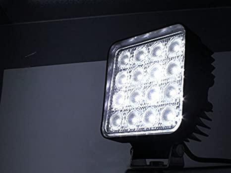 4 X 48W EMC LED Offroad Arbeitsscheinwerfer wei/ß 12V 24V 4560 Lumen Flutlicht Reflektor worklight Scheinwerfer Arbeitslicht SUV UTV ATV Arbeitslampe Traktor Bagge 4