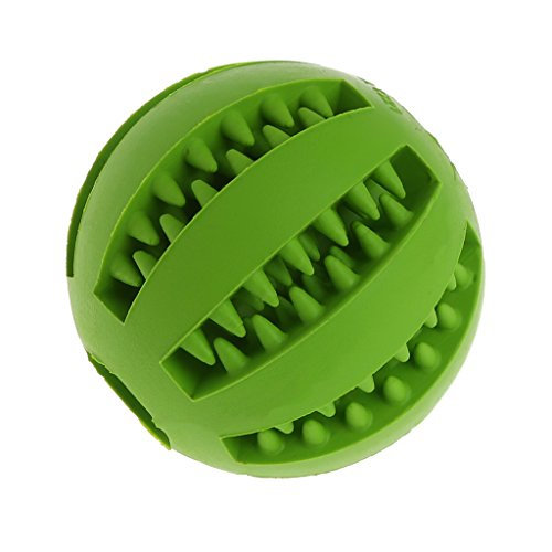 Price comparison product image NNDA CO Pet Dog Chew Toy Food Dispenser Ball Bite-Resistant Clean Teeth Natural Rubber5cm1PcGreen