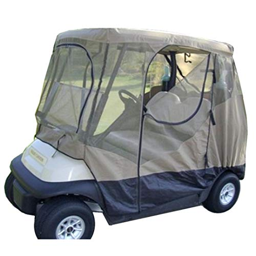 Formosa Covers Golf Cart Mosquito Netting Driving Enclosure 2 Seater