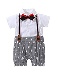MetCuento Baby Boys Romper Long Sleeve Jumpsuit One Piece Suit