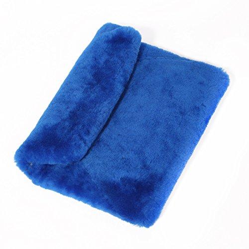 Ursfur Winter En Fourrure De Laine, Sac De Soirée En Forme, Femme, Avec Pochette De Fermeture, Sac Bleu