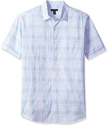 Van+Heusen+Men%27s+Printed+Slub+Short+Sleeve+Shirt%2C+Chambray+Blue%2C+X-Large