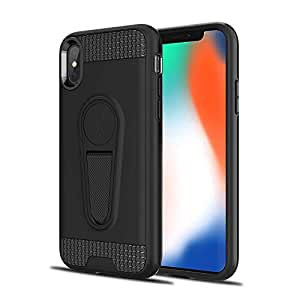 RAG&SAK King Armour Shock Proof with Kick stand Case for Iphone XS Max- Black