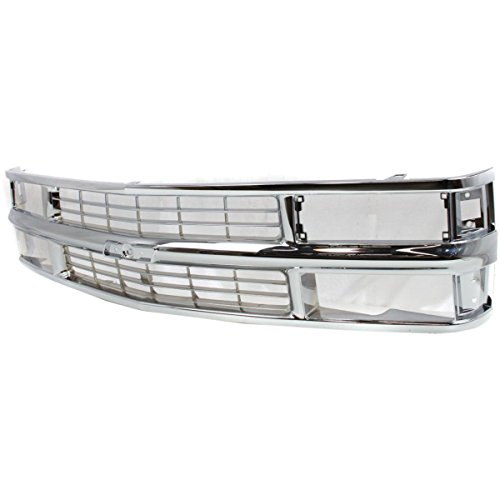 Chevy Truck Grill - Diften 102-A0657-X01 - New Grille Assembly Grill Chrome Suburban Full Size Truck Chevy Blazer GM1200238