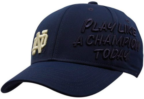 Notre Dame Fighting Irish Play Like a Champion Today Flex Fit Size Small / Medium Style Cap Hat - S/M Fits Size 7 through 7 5/8