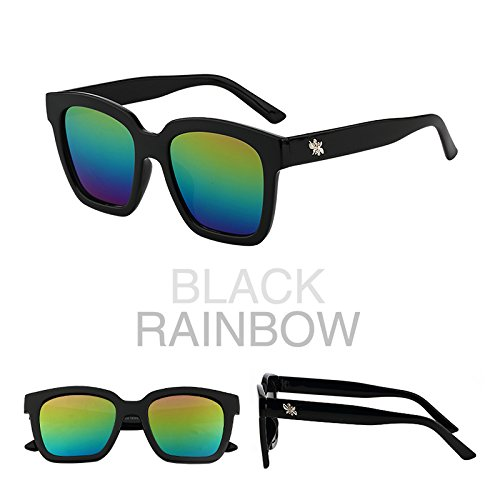 les lunettes de soleil les lunettes de soleil les lunettes de soleil star des lunettes nouveaux visages lélégance la personnalité la corée du sud boîte noire (coloré cloth)