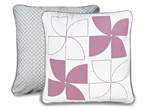 Olli & Lime logan Pillow, Pink/White (Discontinued by Manufacturer)