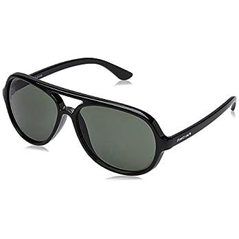 Fastrack UV protected Square Men's Sunglasses (P358BK2|57 millimeters|Black)