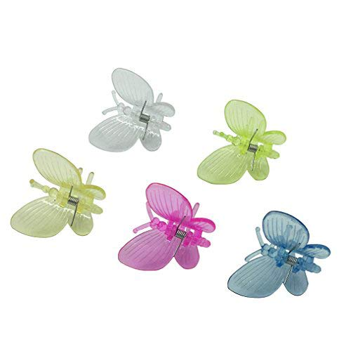 Vtete 30 PCS Butterfly Orchid Clips and Plant Grafting Clips Plant Flower Stem Hooks 5 Colors