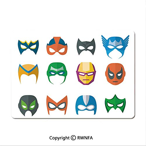 Gaming Mouse pad,Hero Mask Female Male Costume Power Justice People Fashion Icons Kids Display(8.3