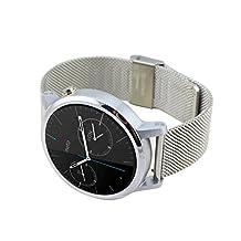 Yishun 22mm Stainless Steel Mesh Bracelet Band for Moto 360 2nd Gen 46mm Smartwatch (Silver)