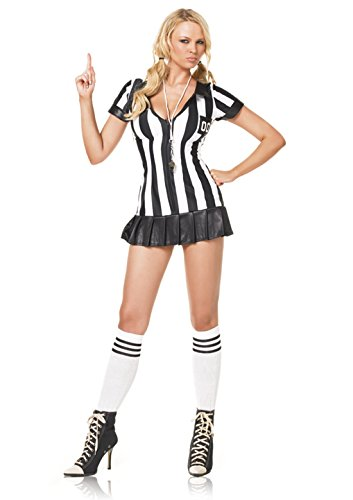 [83067 (XSmall) Sexy Referee Zipper Front Costume] (Woman Referee Costume)