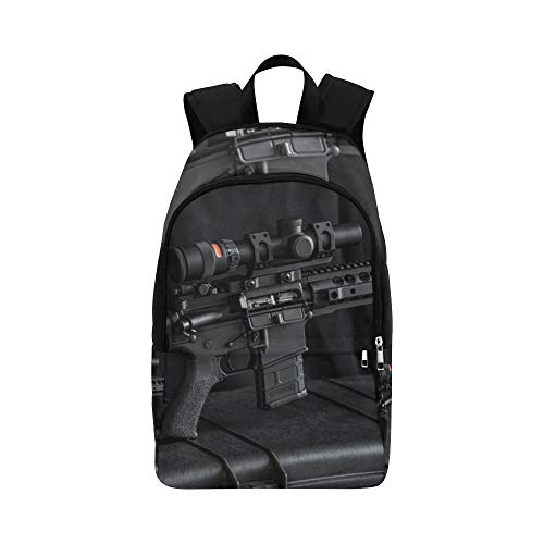 Gun Enthusiasts'rifles Casual Daypack Travel Bag College School Backpack for Mens and Women ()