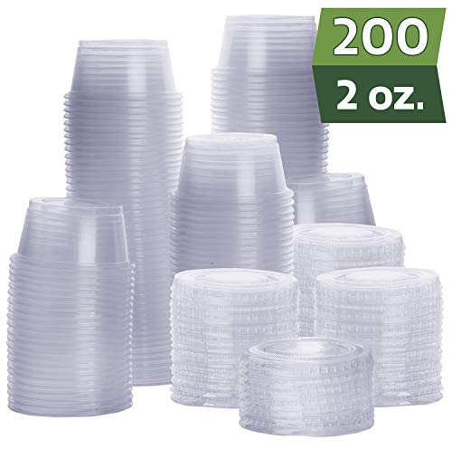 2 oz portion cups with lids - 3