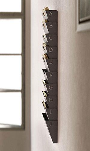 Gray Wall Mount Steel Vertical File Organizer Holder Rack