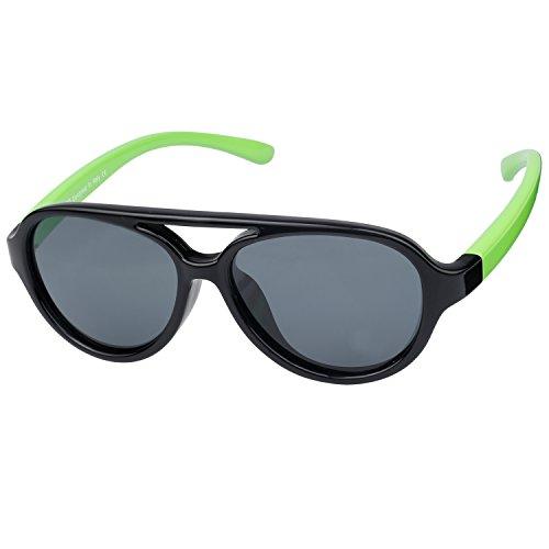 Duco Kids Aviator Polarized Sunglasses TPEE Flexible Frame Glasses for Boys and Girls, Age 3 to 7, - Polarised Sunglasses Eyelevel