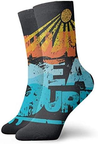 Kevin-Shop Sea Surf Fashion Hohe Söckchen für Männer Frauen Crew Socken Kurze Socken Alle Jahreszeiten