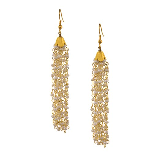 Zephyrr Fashion Hanging Hook Earrings with Pearl Beads for Women
