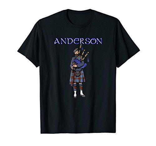 Scotland T-shirt Anderson Clan Scottish Piper Tartan Kilt