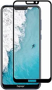 سكرينة لاصقة حماية زجاجية للشاشة خماسية الابعاد 5D لهاتف هواوي اونور 8C - اسود