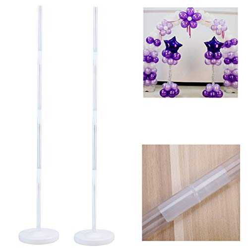AQANATURE | Ballons & Accessories | 4pcs Balloon Column Stand Kits Arch Stand with Frame Base and Pole Set for Wedding Party Supplies Decoration