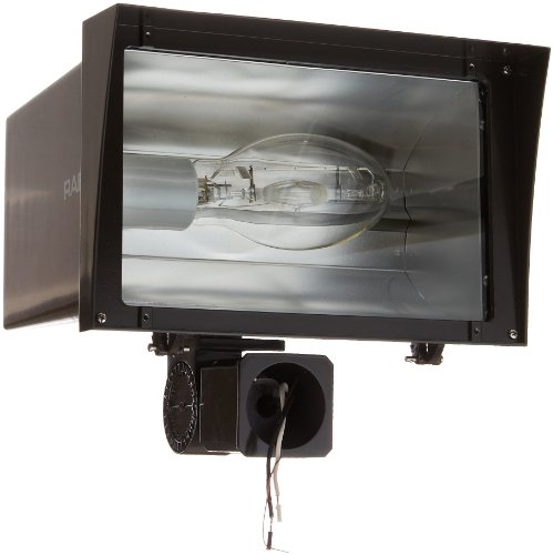 Floodlight Halide Pulse Metal Start (RAB Lighting FZH400SFPSQ Floodzilla Pulse Start Metal Halide Floodlight with Slip Fitter Mount, ED28 Type, Aluminum, 400W Power, 40000 Lumens, 120/208/240/277V, CWA-HPF QT Ballast, Bronze Color)
