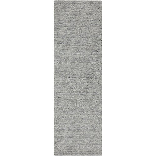 Wool Gray Runner - Surya Etching ETC-4926 Transitional Hand Loomed 100% Wool Gray 2'6