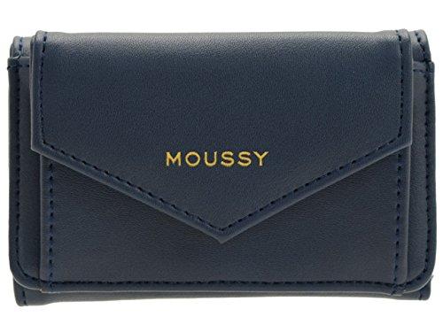(マウジー) moussy 財布 三つ折り 折財布 ミニウォレット 合成皮革 GISELE M3 TRIFOLD WALLET m01200003 B07CJTTKS2 ネイビー ネイビー