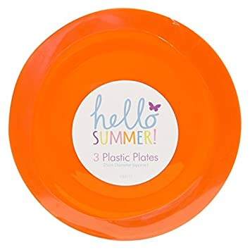 REUSABLE PLASTIC PLATES 25CM - PARTY PICNIC BBQ GARDEN - 4 COLOURS -PACK OF 15  sc 1 st  Amazon UK & REUSABLE PLASTIC PLATES 25CM - PARTY PICNIC BBQ GARDEN - 4 COLOURS ...