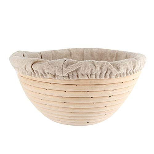 Banneton Proofing Basket - Rattan Basket Bread Banneton Brotform Dough Proofing Proving Rattan Multi-Sizes For Rising Dough Or Decoration Home Basket - by SHA - 1 PCs by SHA (Image #6)