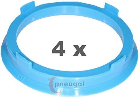 Kunststoff 67.1mm auf 56.1mm hellblau 4 x Zentrierringe