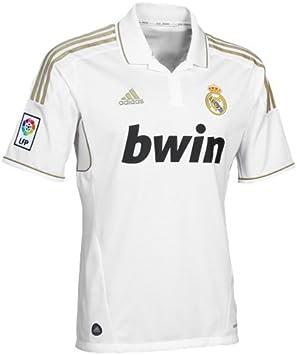 Real Madrid - Camiseta de fútbol, Hombre, V13659, Blanco, Large: Amazon.es: Deportes y aire libre
