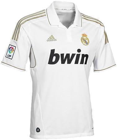 Camiseta de fútbol Real Madrid, Hombre, V13659, Blanco, L: Amazon.es: Deportes y aire libre