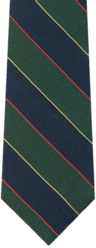 Pravata Men's Repp Stripe Woven Micro Fiber Tie Reg. Navy,Green,Yellow,Red ()