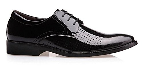 Shoes Closed Black up Perforated Dress Oxford Business Shoes Lace Men's Toe Modern BY1wavqWw