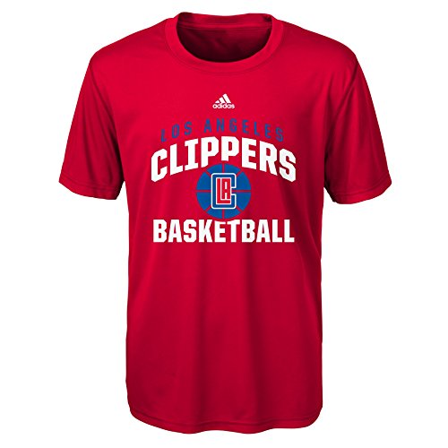 NBA Rep Big Performance Short Sleeve Tee-Red-M(10-12), Los Angeles Clippers