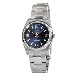 Rolex Airking Blue Arabic Dial Domed Bezel Mens Watch 114200BLASO [Watch] Rolex