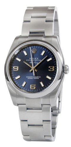 Rolex Airking Blue Arabic Dial Domed Bezel Mens Watch 114200BLASO [Watch] Rolex ()